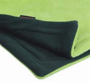 Deka fleece Emitex 70x100 cm - antracit / limetka