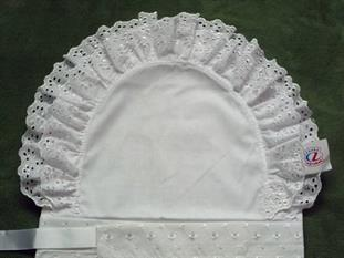Zavinovačka dvouřadá 8 cm krajka madeirové vázání + saténová stuha