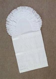 Zavinovačka 3 řadá 8 cm krajka madeirové vázání + saténová stuha