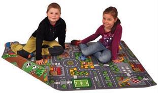 Dětský koberec oboustranný Silnice / farma
