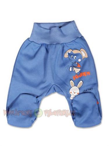 New Baby dojčenské polodupačky Lucky - modré - vel. 68