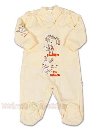2D dojčenská súpravička vel. 56 - béžový zajačik