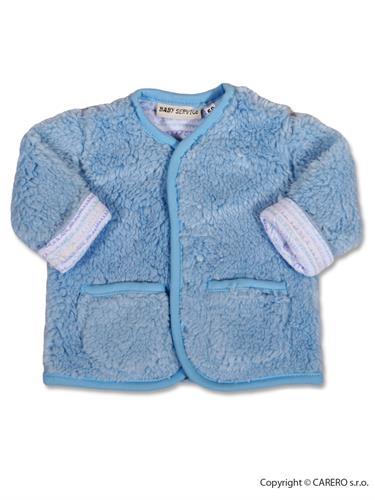 Baby Servis zimný dojčenský kabátik Baránok - modrý vel. 68