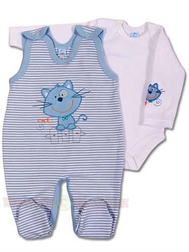 BOBAS dojčenská súprava body + dupačky vel. 62 - modrá