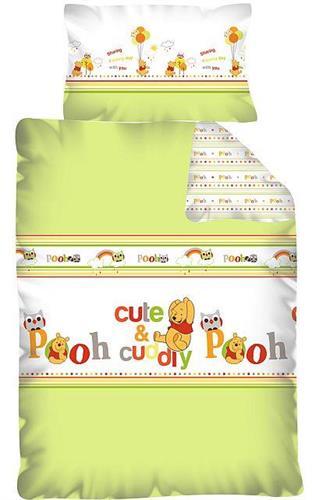 Obliečky do detskej postieľky licenčné - Medvedík Pú zelený
